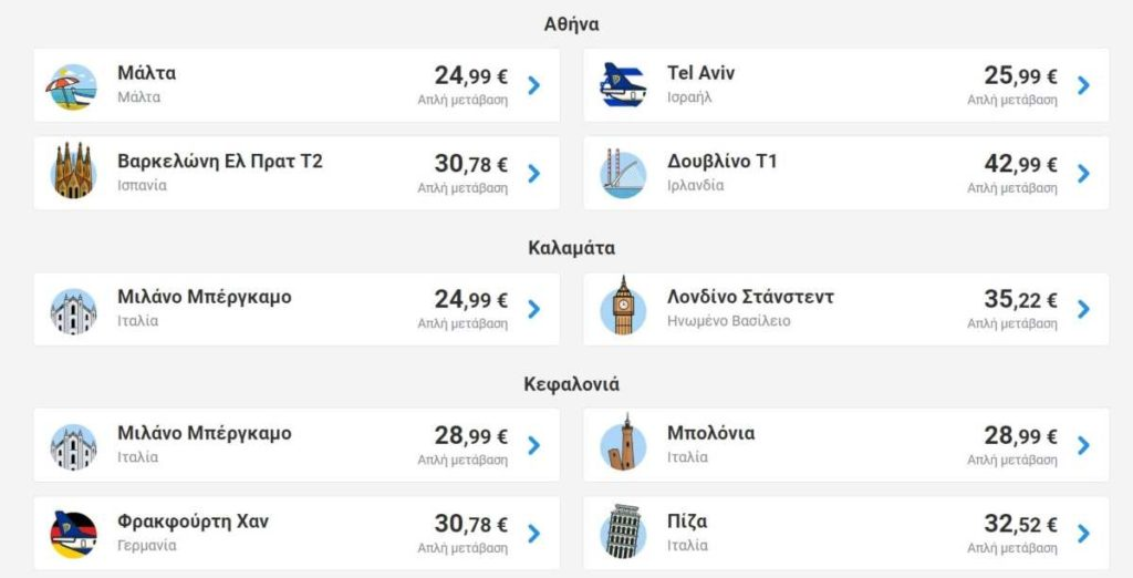 Ryanair εκπτώσεις Αθήνα