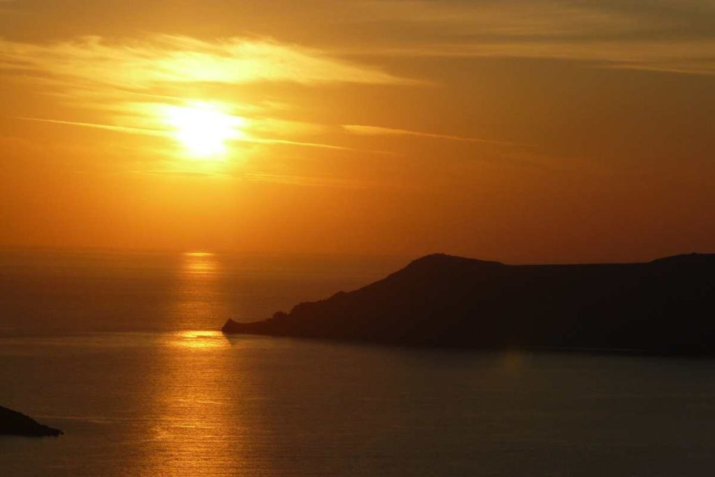 Ηλιοβασίλεμα Θηρασιά, Σαντορίνη