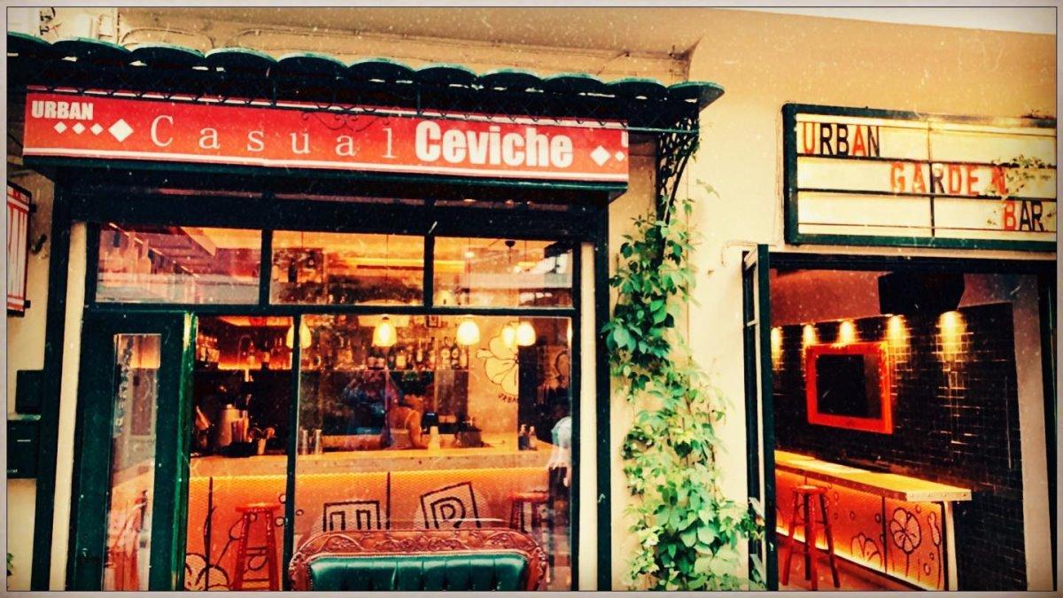 casual ceviche στο Urban Garden Bar