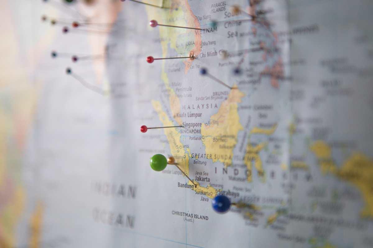 Χάρτης, πινέζες