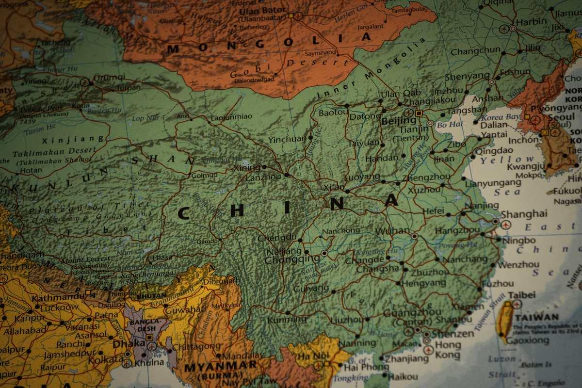 Κίνα, χάρτης