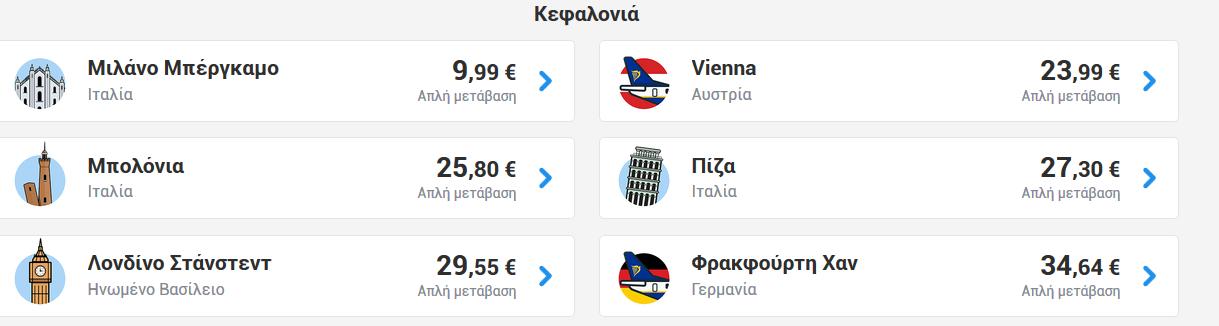 Κεφαλονιά Ryanair