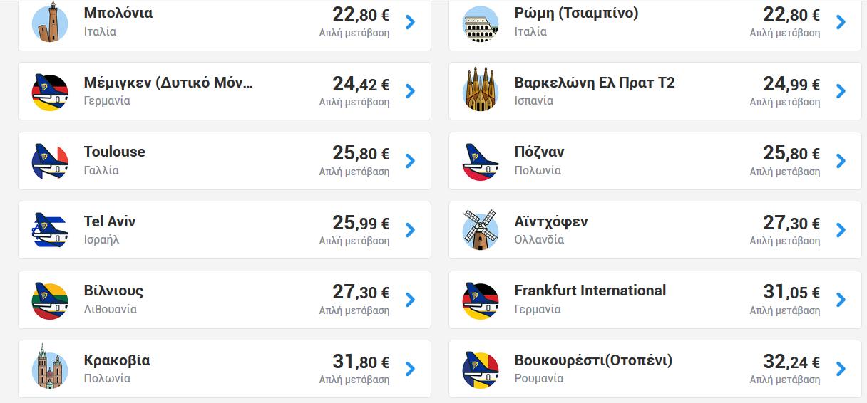 Αθήνα Ryanair