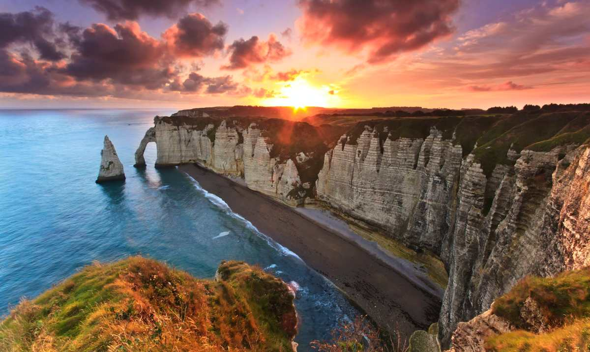 Etretat Cliffs, France