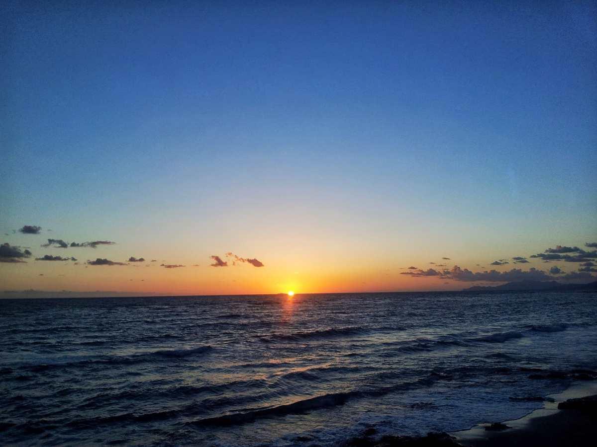 Παξοί, ηλιοβασίλεμα