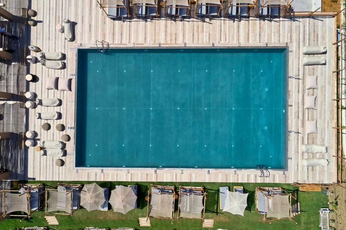La Mer πισίνα από ψηλά