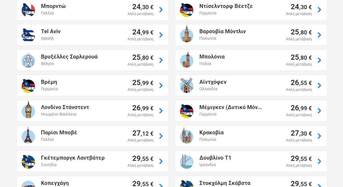Ryanair προσφορά από Θεσσαλονίκη
