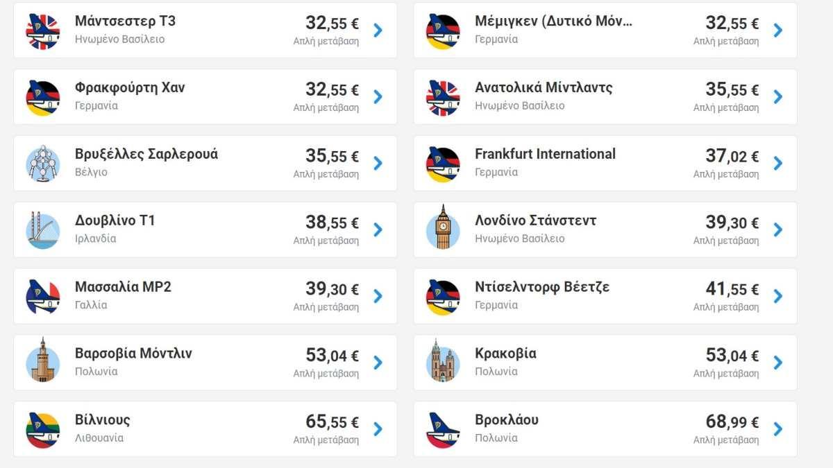 Ryanair προσφορά από Χανιά-εξωτερικό