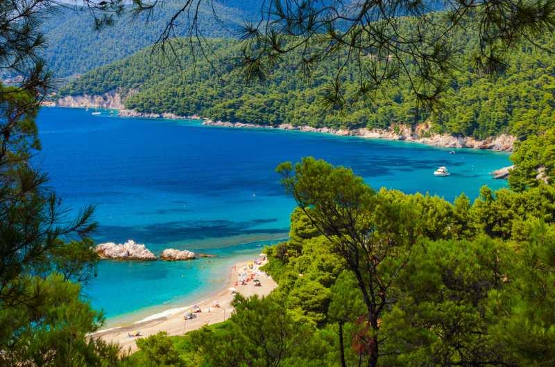 Παραλία Μηλιά, Σκόπελος