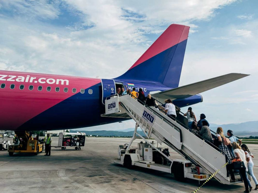 Wizz Air επιβίβαση