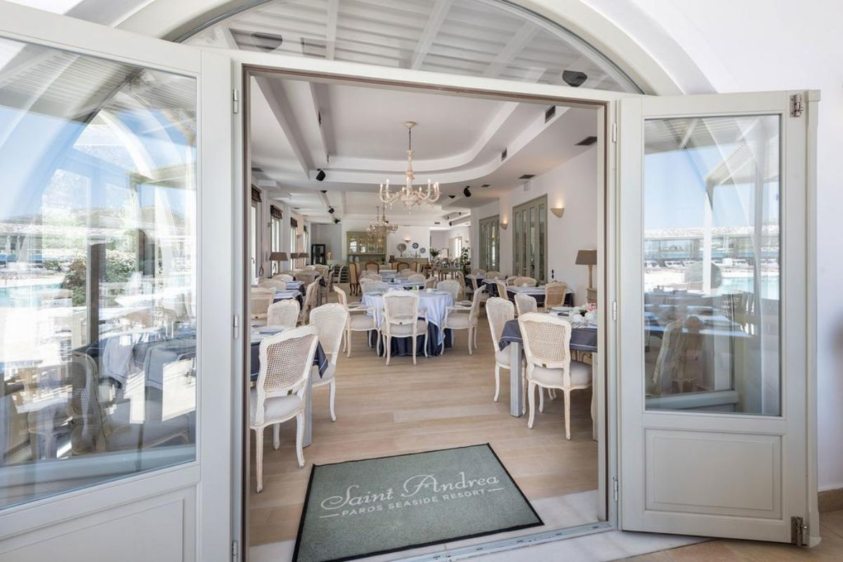 Saint Andrea Resort είσοδος στο εστιατόριο