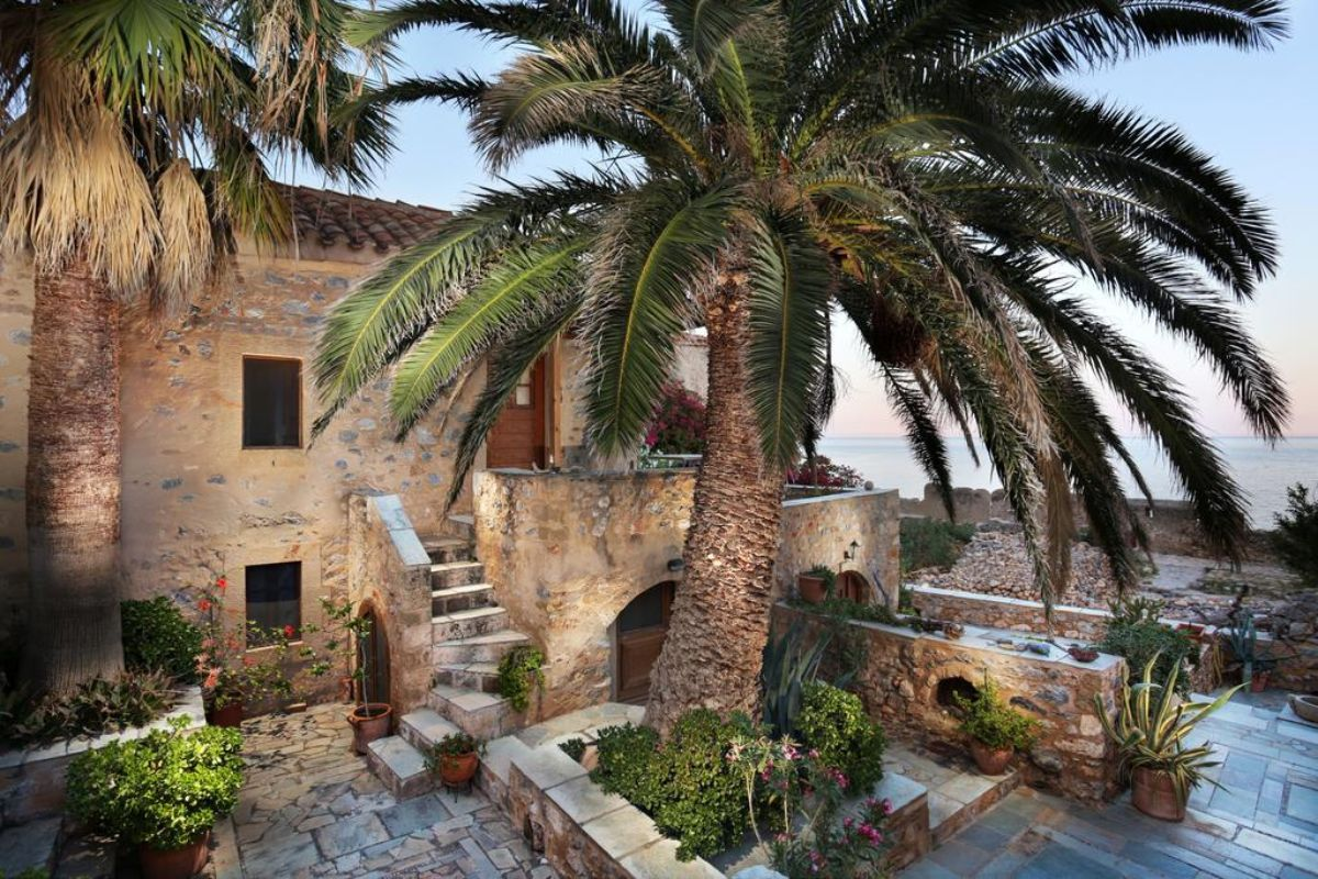 Casa Palma πέτρινο σπίτι με φοίνικες