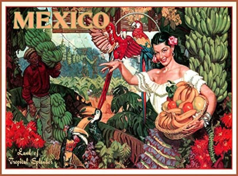 vintage αφίσα του Μεξικού