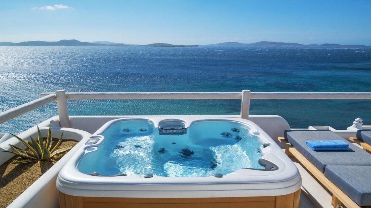 Ξενοδοχείο Mykonos Grand Hotel & Resort τζακουζι