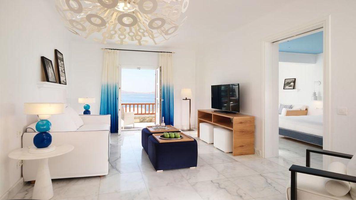 Ξενοδοχείο Mykonos Grand Hotel & Resort σαλόνι στο δωμάτιο
