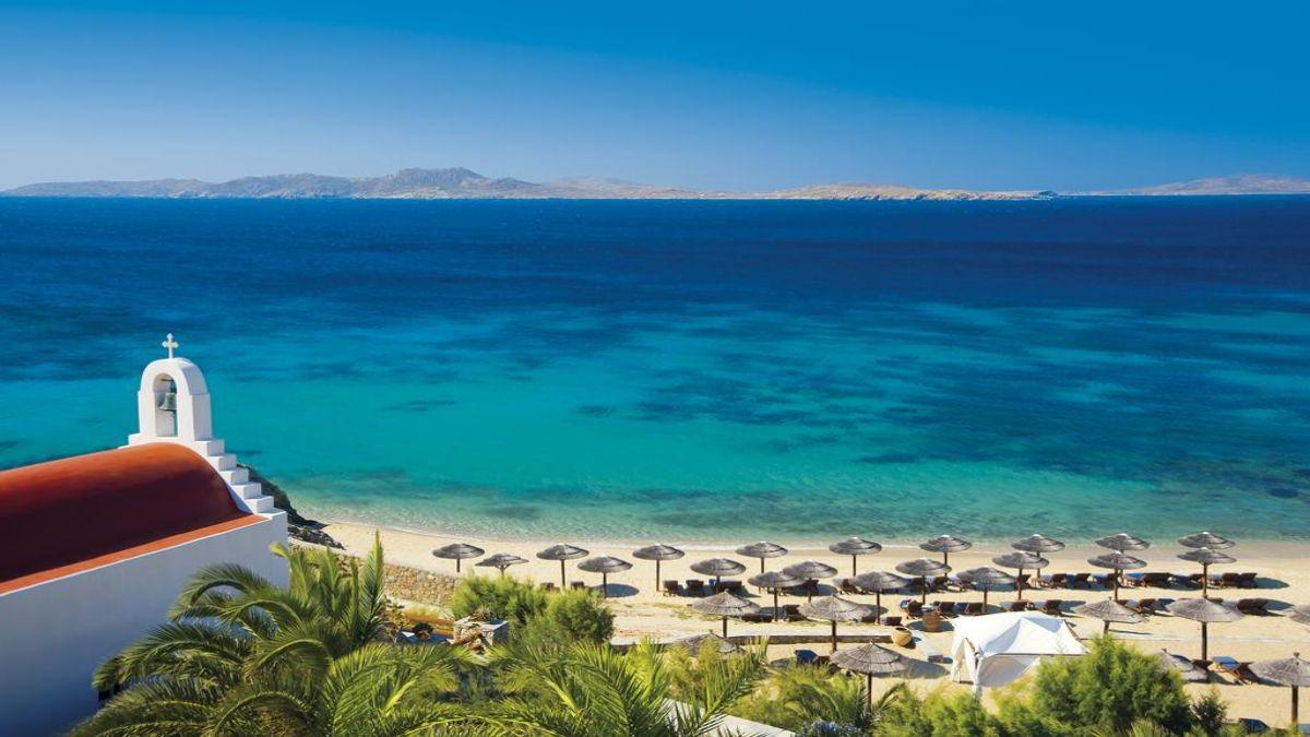 Ξενοδοχείο Mykonos Grand Hotel & Resort παραλία