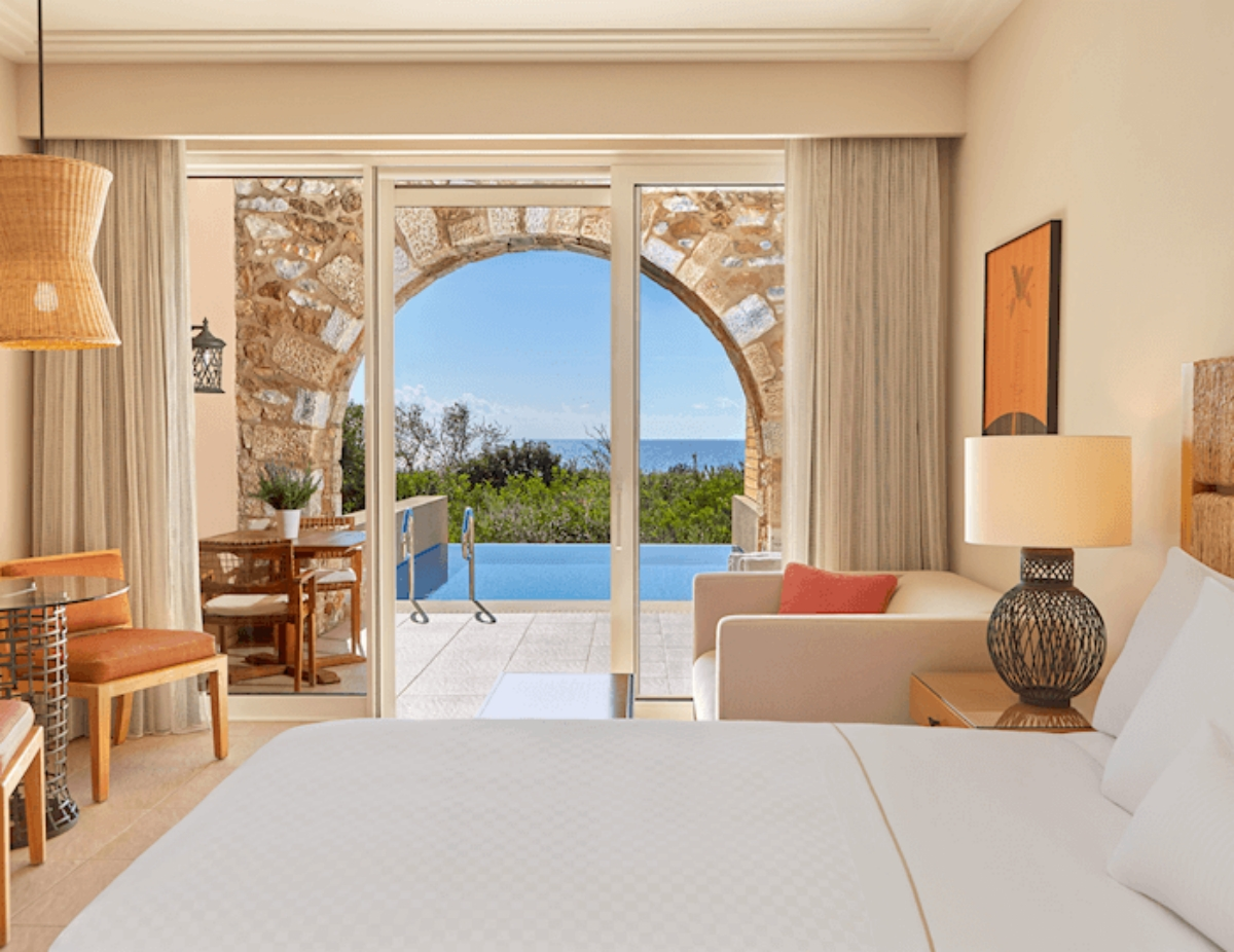 Westin Resort Costa Navarino το δωμάτιο του ξενοδοχείου