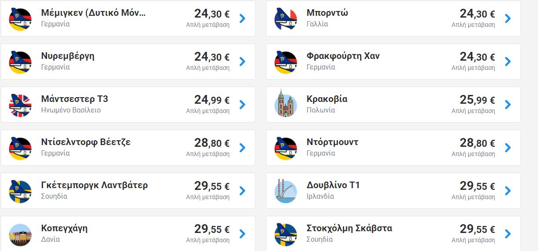 Πτήσεις από Θεσσαλονίκη