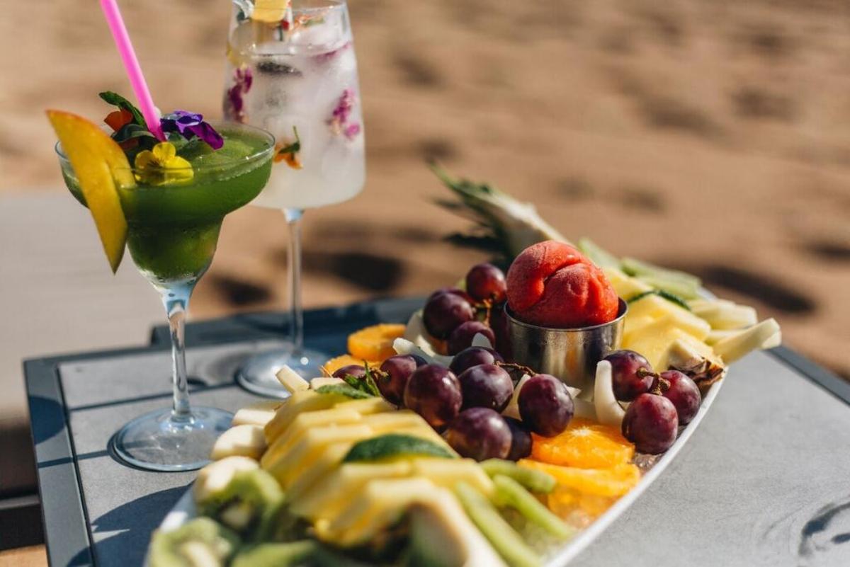 Westin Resort Costa Navarino φρέσκα φρούτα και χυμοί