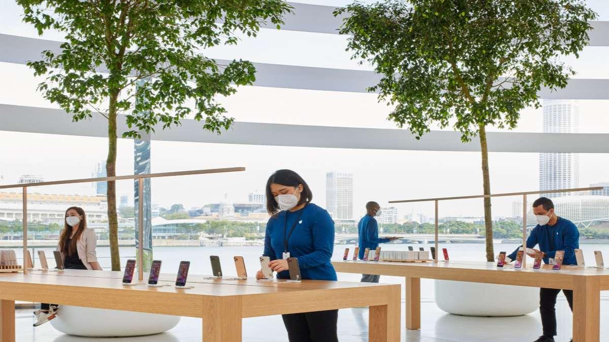 κατάστημα Apple Marina Bay Sands σιγκαπούρη εσωτερικό