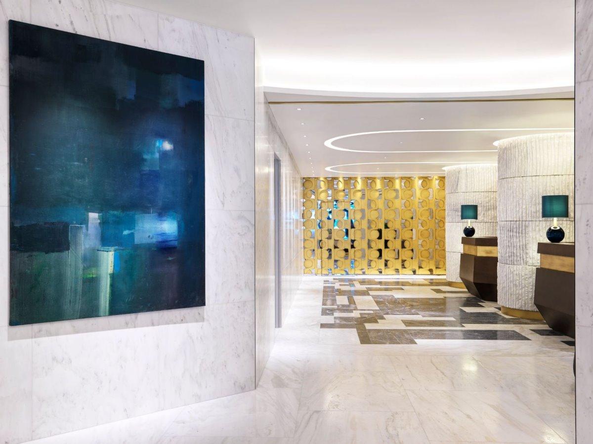 Ο χώρος υποδοχής στο Athens Capital Hotel - MGallery