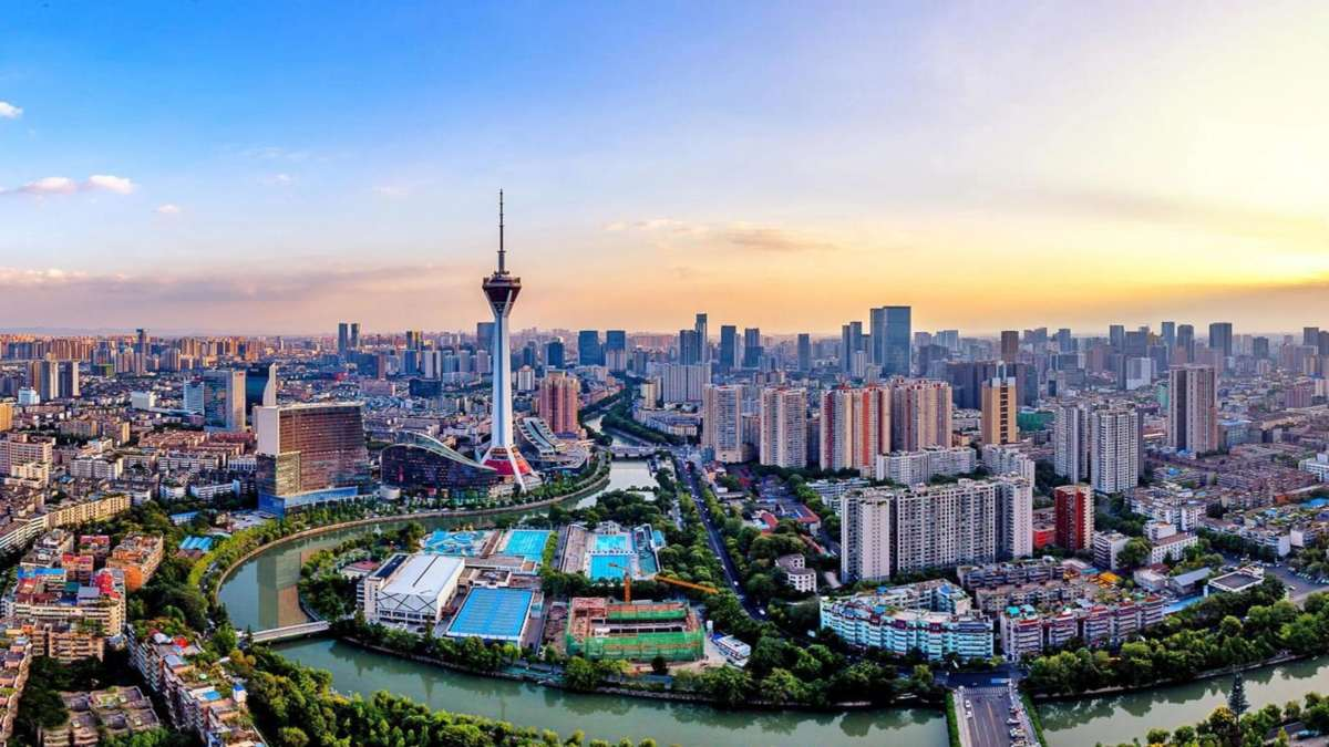 Chengdu Κίνα πανοραμική πόλης