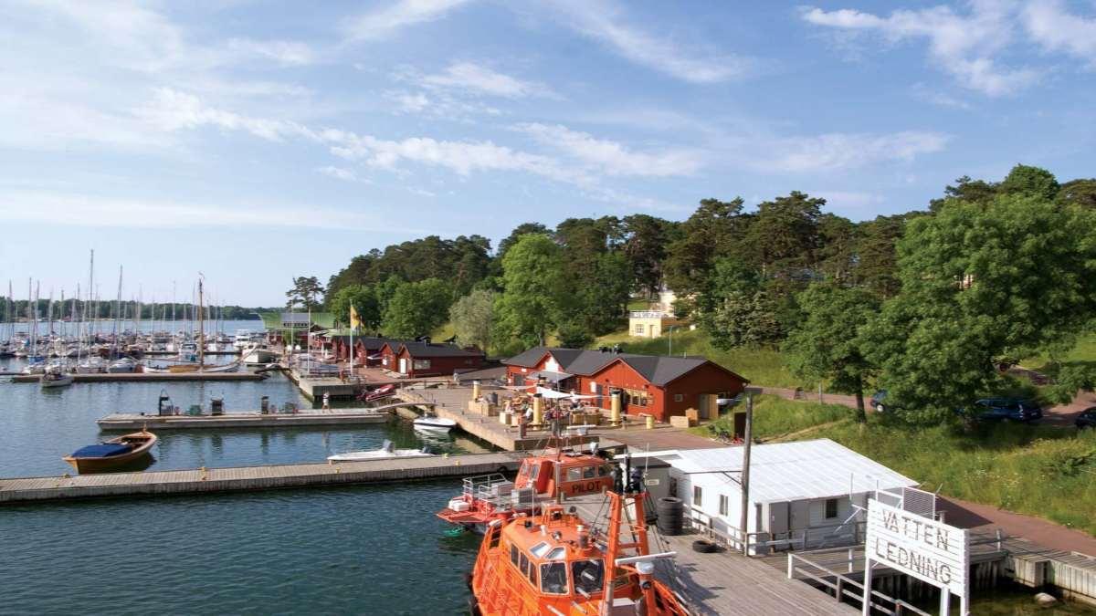 Mariehamn Φινλανδία λιμάνι πλοιάρια