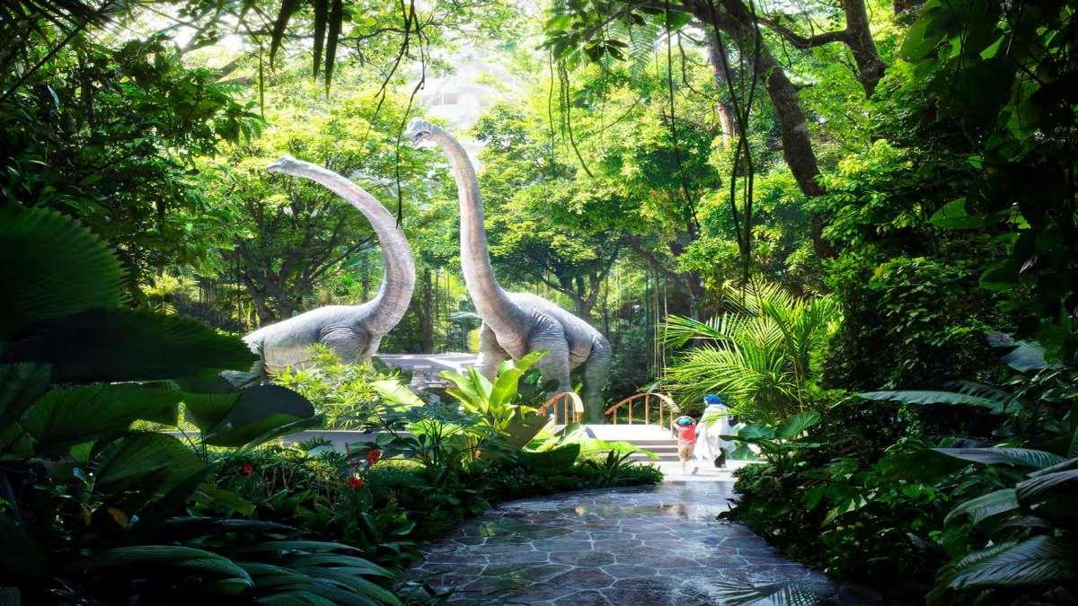 5άστερο ξενοδοχείο Rosemont Hotel & Residences Ντουμπάι τροπικό δάσος τέρατα