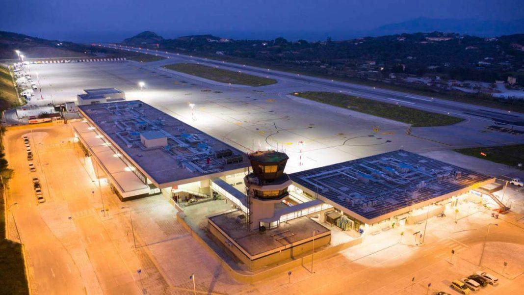 αεροδρόμιο Σκιάθου Αλέξανδρος Παπαδιαμάντης νυχτερινή λήψη