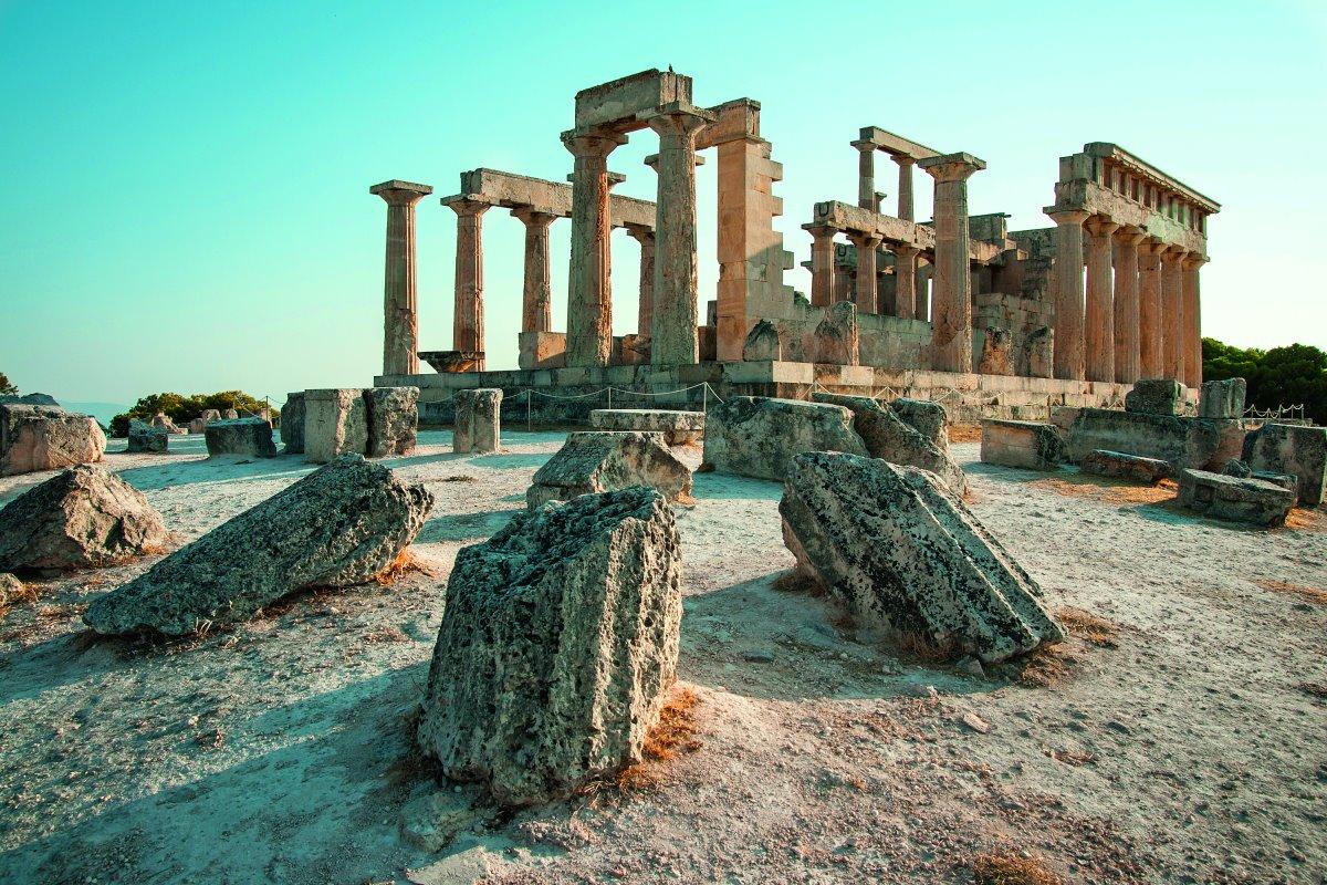 Ο αρχαίος ναός της Αφαίας στην Αίγινα