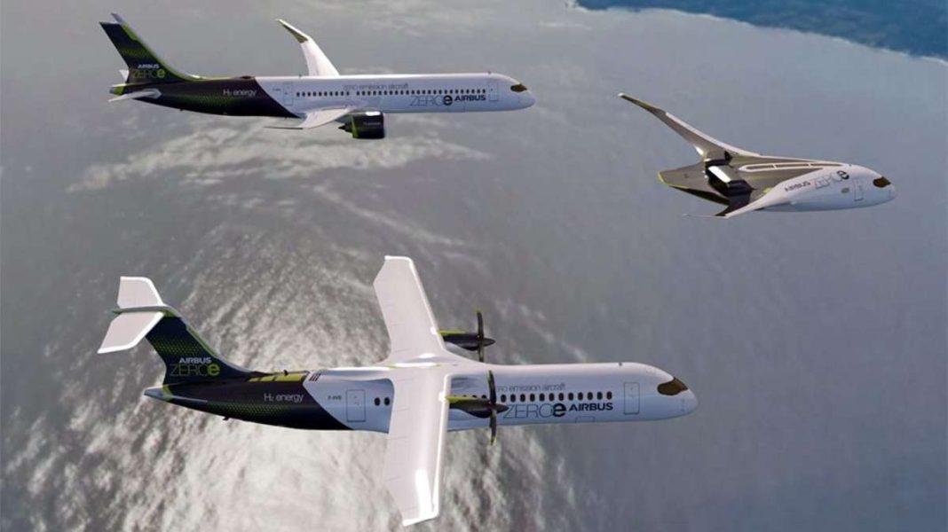 τρία airbus στον αέρα