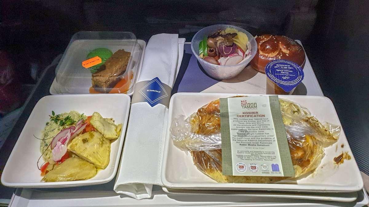 φαγητό αεροπλάνου σε δίσκο