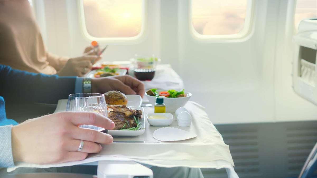 φαγητόαεροπλάνου σε δίσκο θέση