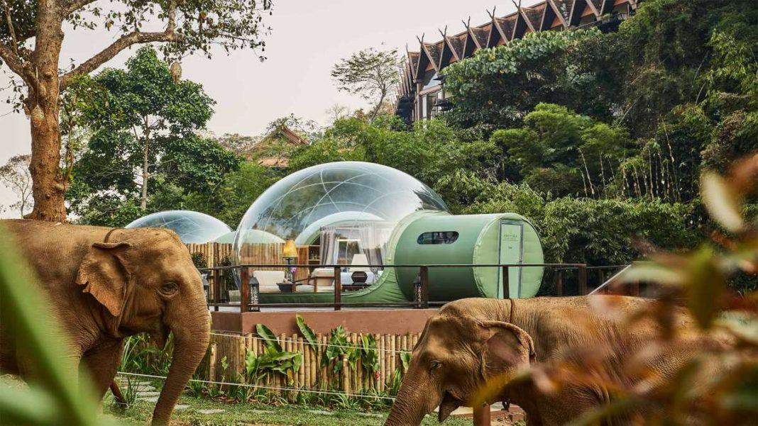 anantara resort ταϊλάνδη διάφανεσ φούσκες ελέφαντες