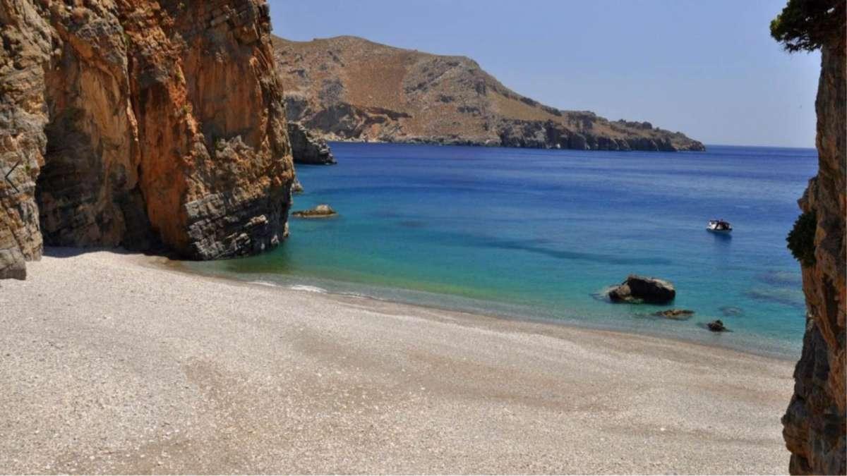 άσπρη παραλία Ηράκλειο κρήτης