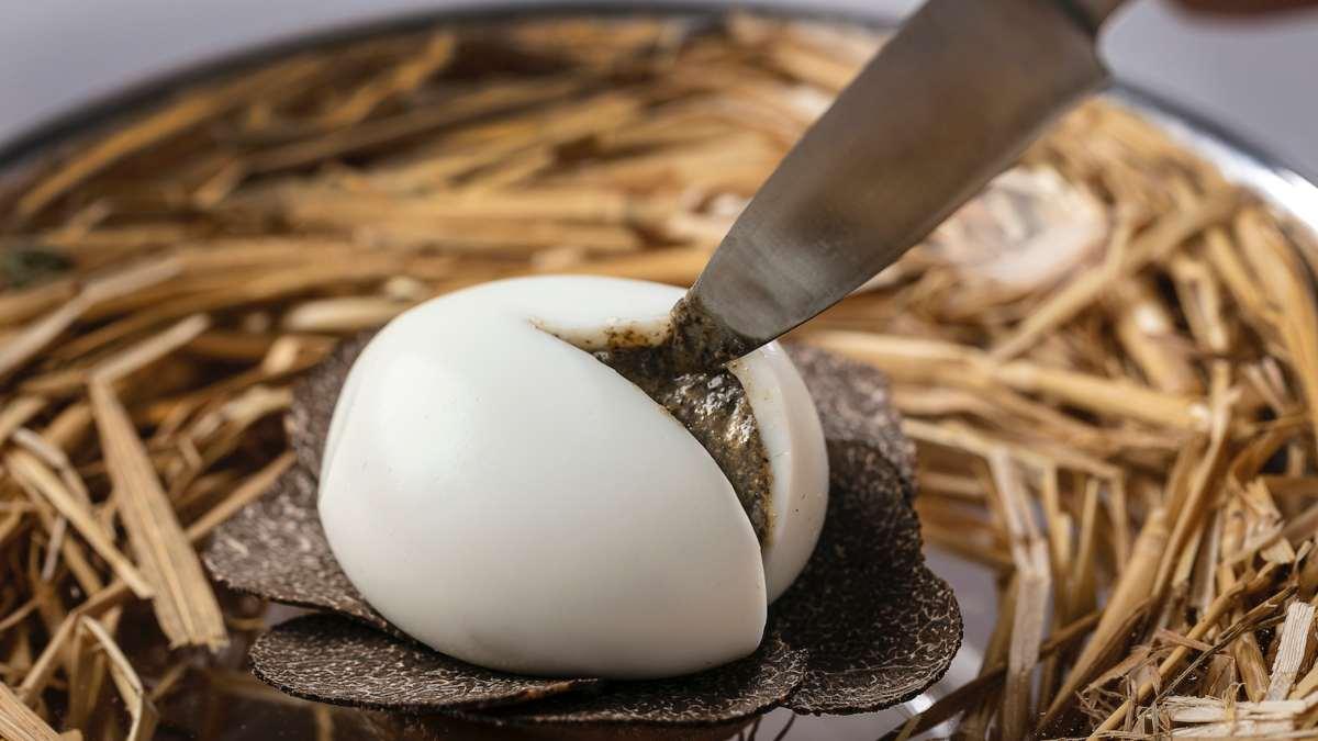 Auberge du Vieux Puits καλύτερο εστιατόριο 2020 αυγό με τρούφα