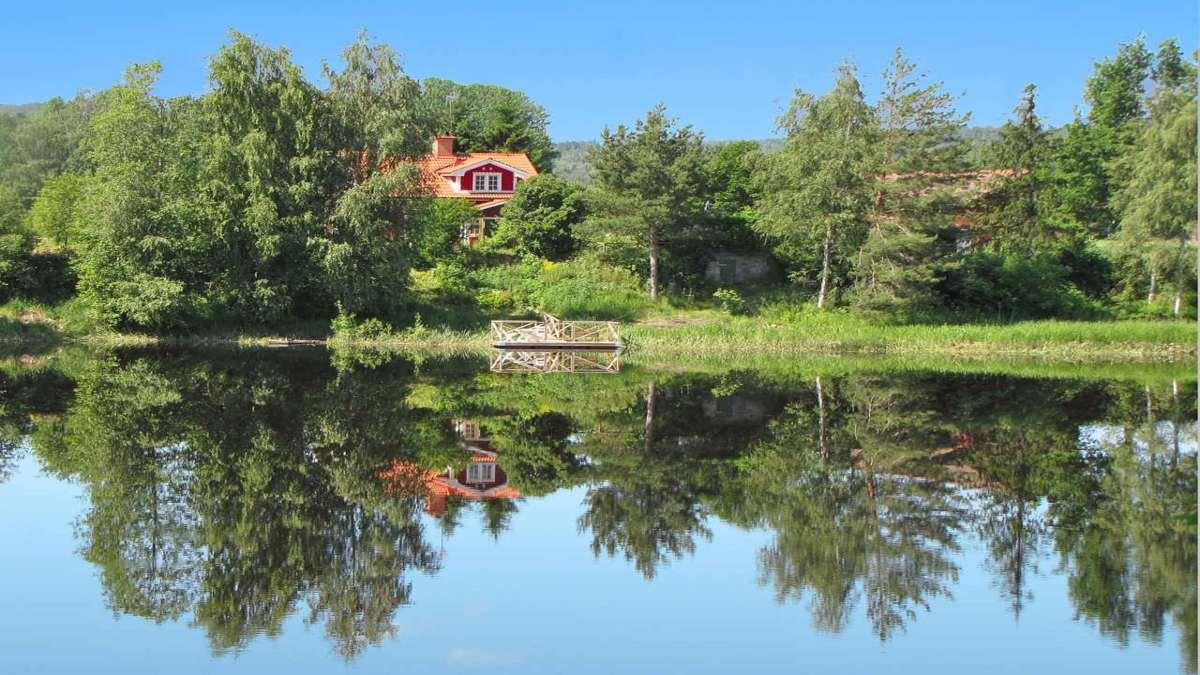 Avesta Σουηδία ύπαιθρος αγροικία
