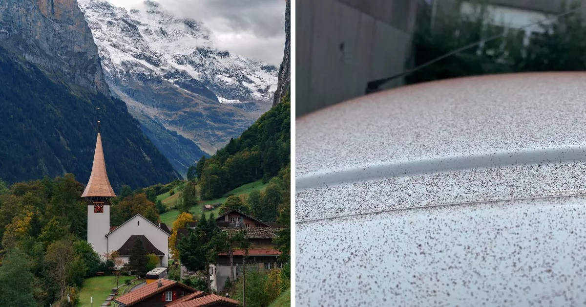 σοκολατένιο χιόνι ελβετική πόλη Olten