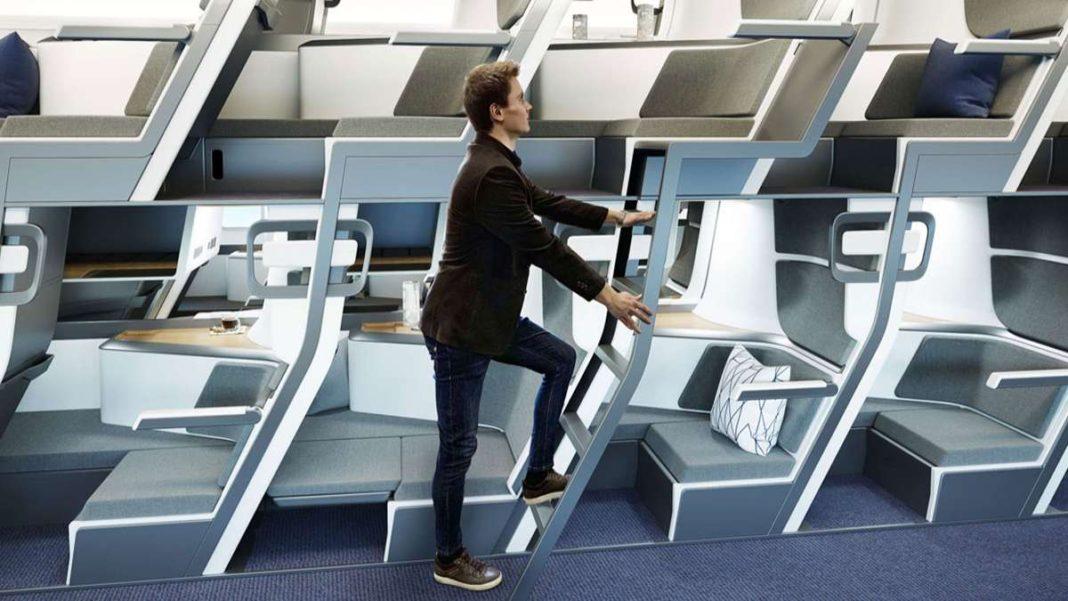 διώροφα καθίσματα αεροπλάνου