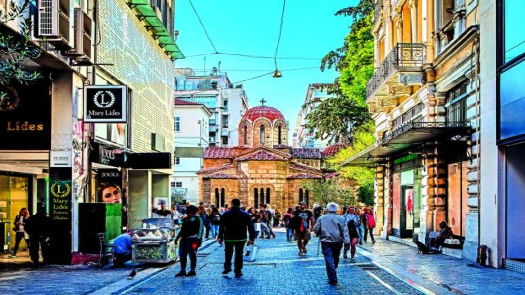θορυβώδης πόλη Αθήνα οδός Ερμού