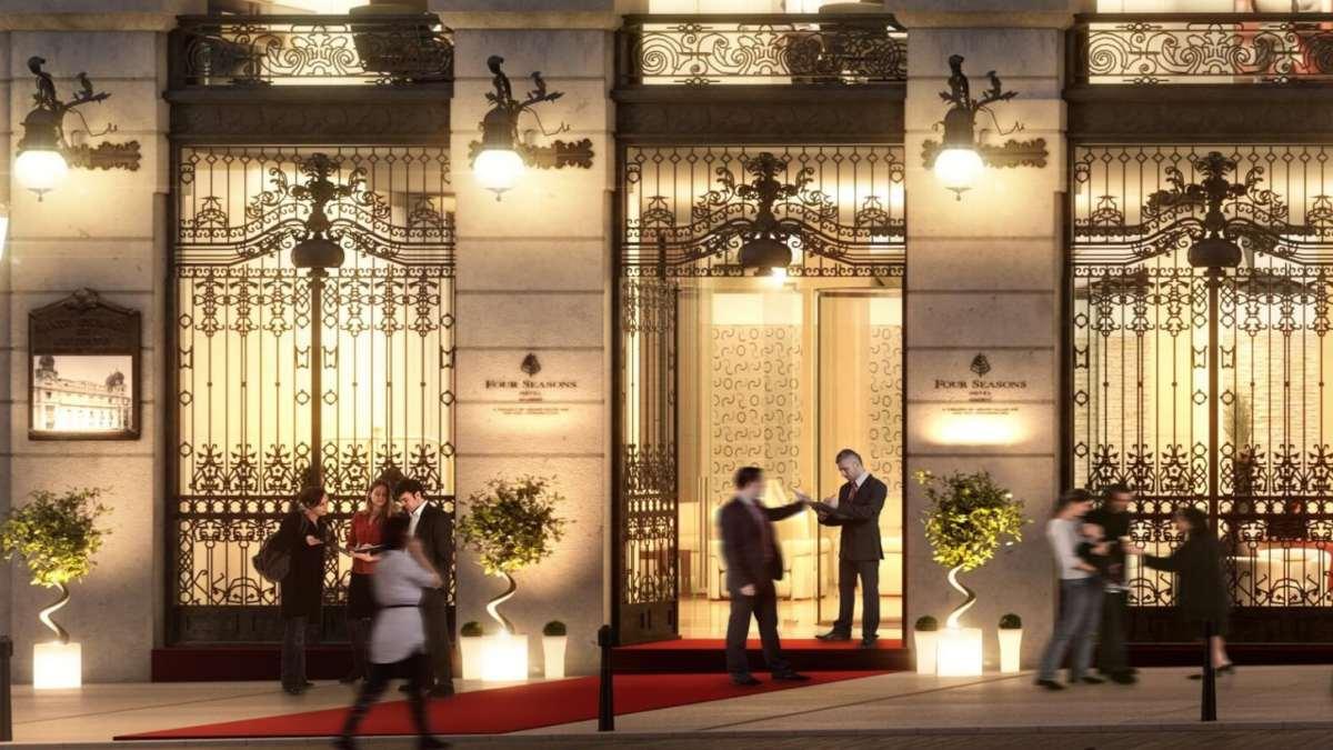 Four Seasons Hotel Μαδρίτη εξωτερική όψη είσοδος