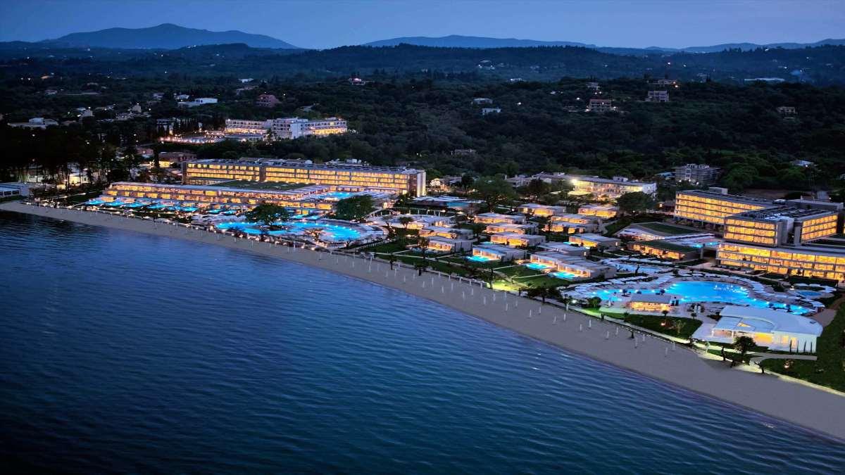 Ikos Dassia Κέρκυρα γενική νυχτερινή άποψη ξενοδοχείου