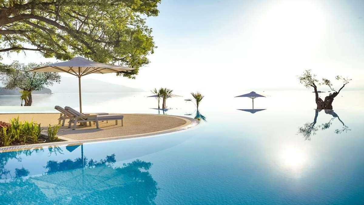 Ikos Dassia πισίνα πανοραμική