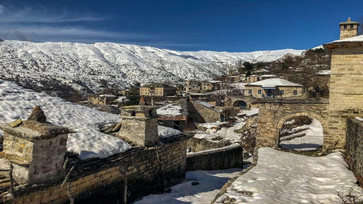 Καλαρρύτες Ιωαννίνων χιόνια