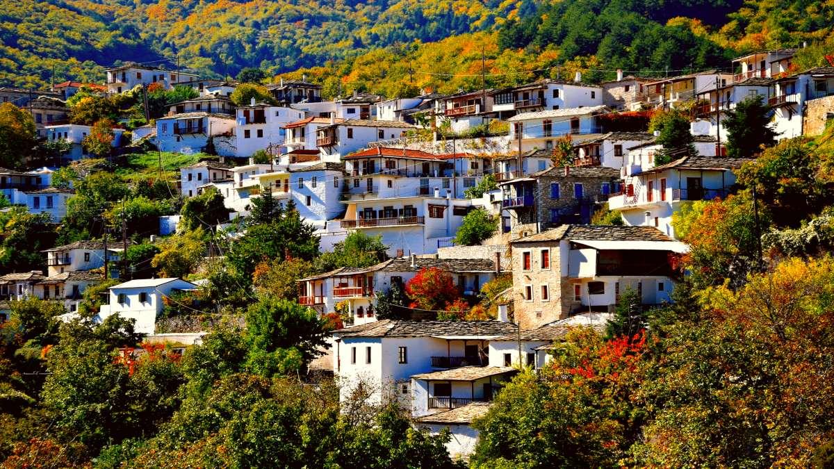 χωριό καστάνιτσα αρκαδία, πανοραμική εικόνα του χωριού