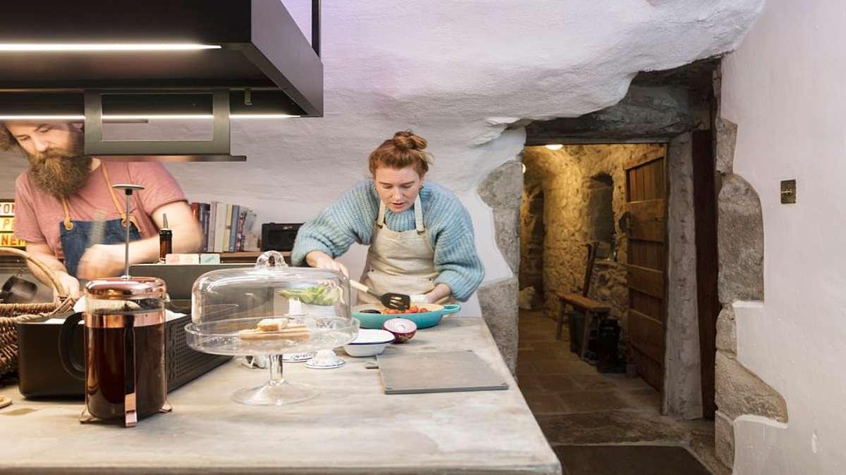 Kilmartin Castle Σκωτία κουζίνα παρασκευή φαγητού