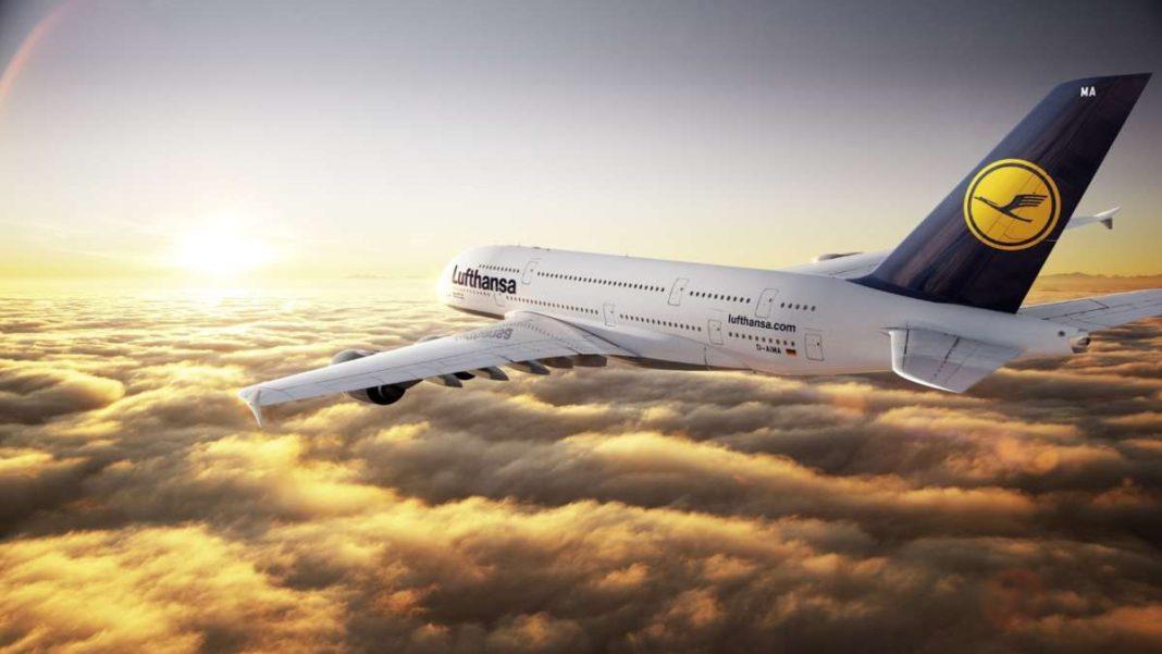 Lufthansa αεροπλάνο airbus αιθέρες