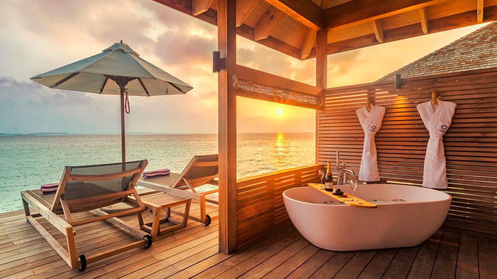 Ξενοδοχείο Μαλδίβες δωμάτιο πάνω στη θάλασσα