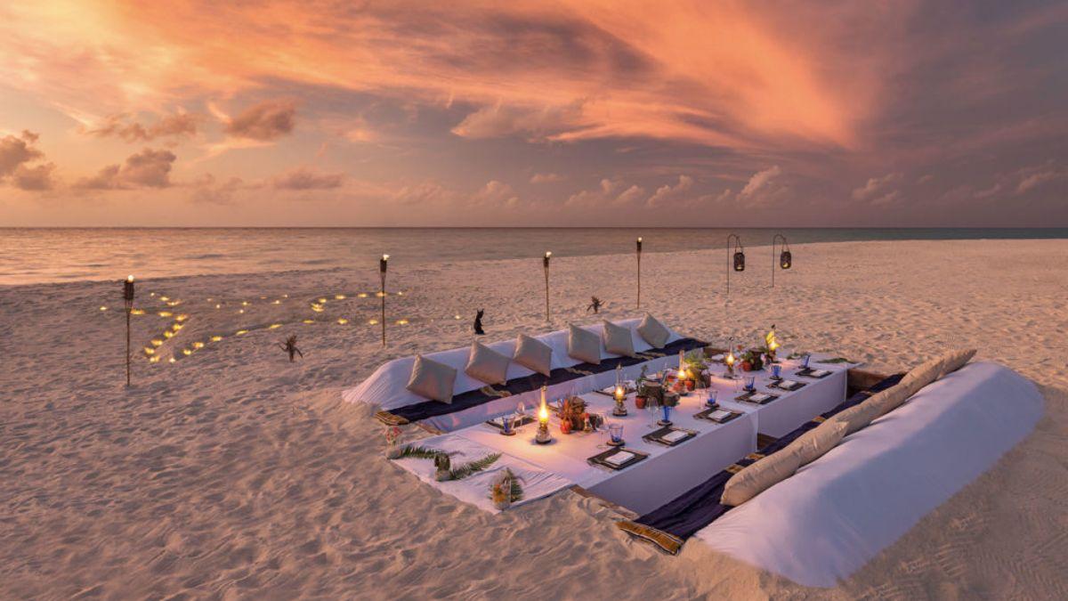 γεύμα πάνω στην άμμο, Μαλδίβες
