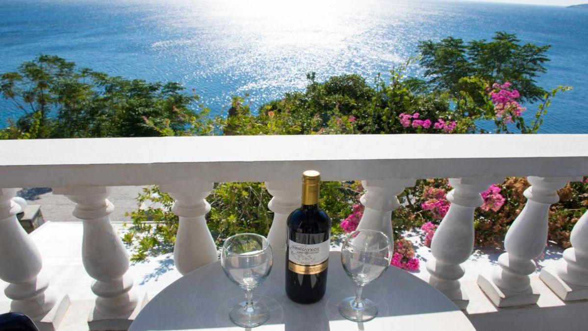 θέα από το μπαλκόνι του Marisini